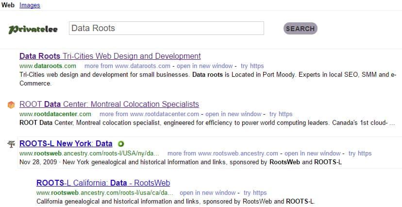 Privatelee search results