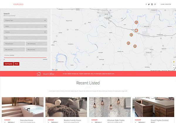 Data Roots real estate theme