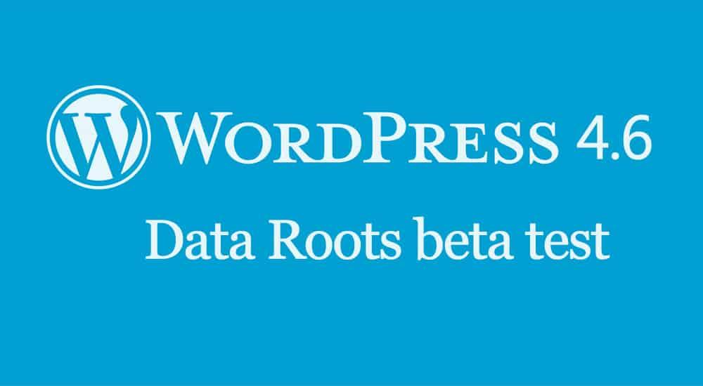 WordPress 4.6 beta test
