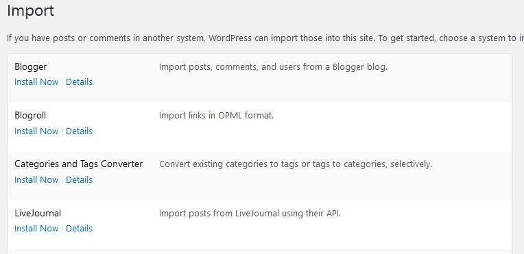WordPress 4.6 polished importer