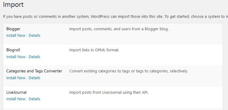 WordPress 4.6 polished importer