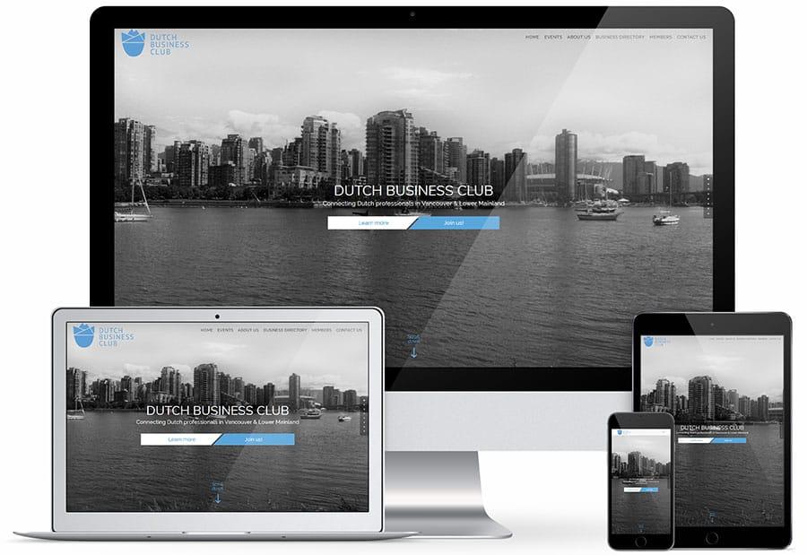 Dutch Business Club Vancouver & Lower Mainland responsive design