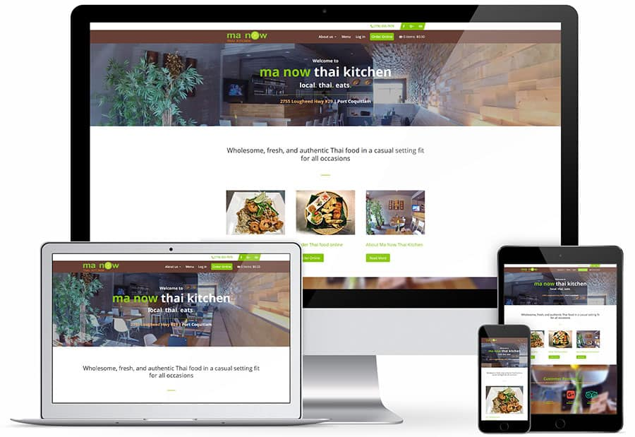 Ma Now Thai Kitchen responsive view