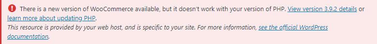 Woocommerce PHP error